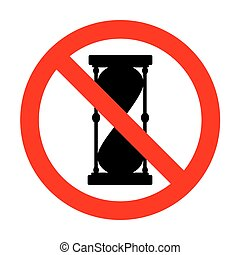 No Hourglass sign illustration.