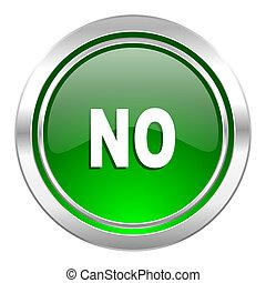 no icon, green button