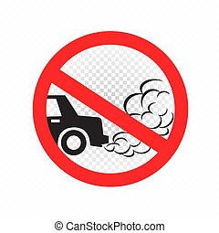 no idling engine off sign icon