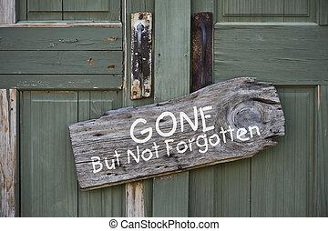 no, ido, pero, forgotten.