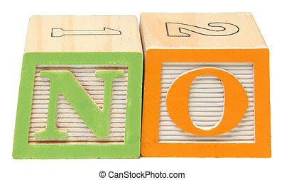NO in Alphabet Blocks