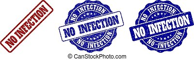 NO INFECTION Scratched Stamp Seals