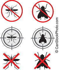 No insect - Design of kill insect sign
