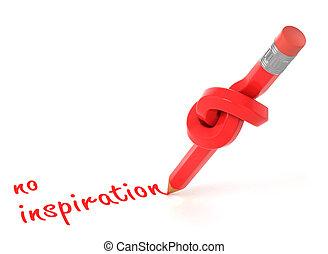 no inspiration 3d concept