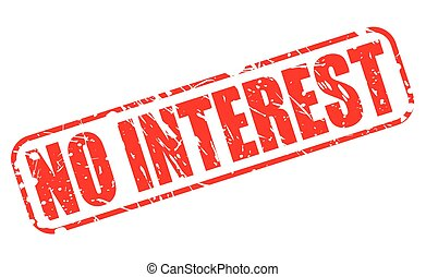 NO INTEREST red stamp text