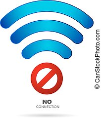 no internet connection sign vector