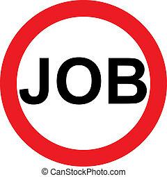 No job sign