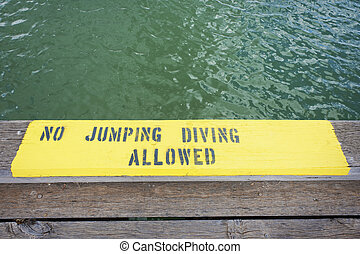 No Jumping Or Diving