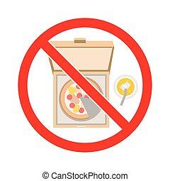 No junk food. No fast food. Sign vector.