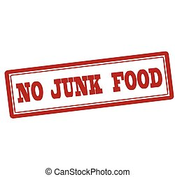 No junk food - Rubber stamp with text no junk food inside,...