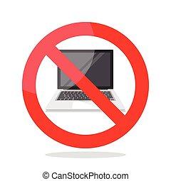 No laptop sign