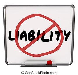 No Liability Reduce Risk Mitigation Danger Prevention - ...