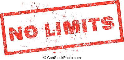 No limit grunge rubber stamp, vector illustration