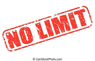 NO LIMIT red stamp text