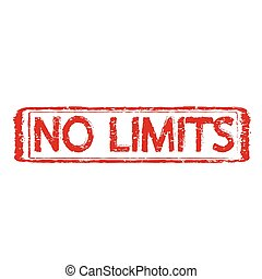 NO LIMITS grunge rubber stamp, illustration