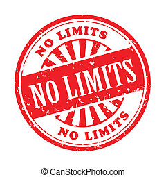 no limits grunge rubber stamp