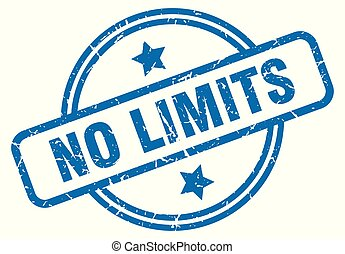 no limits grunge stamp