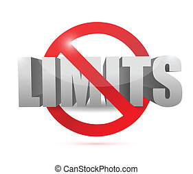no limits sign concept illustration design