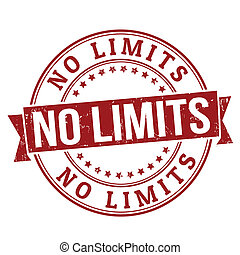No limits grunge rubber stamp on white, vector illustration