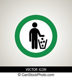 No littering sign in vector