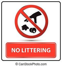 no littering sign vector illustration