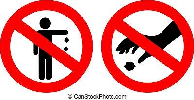 No littering signs set