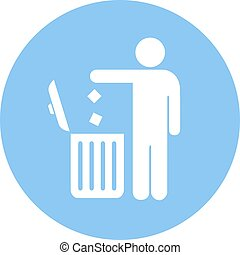 No littering, use trash can icon