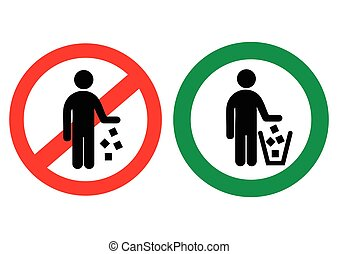 No littering vector sign