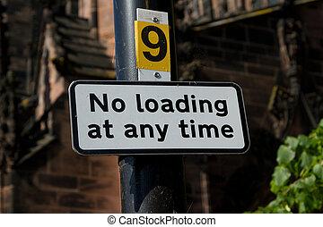No loading sign.
