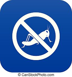No locust sign icon digital blue for any design isolated on...