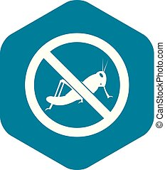 No locust sign icon, simple style - No locust sign icon in...
