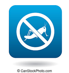 No locust sign icon, simple style - No locust sign icon in...