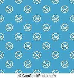 No locust sign pattern seamless blue - No locust sign...