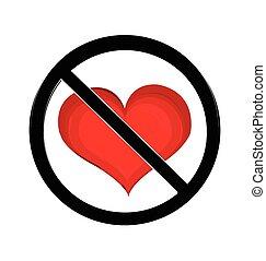 No love sign