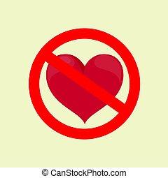 No Love. Stock flat vector illustration.