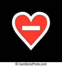 No loving sign. Vector illustration.