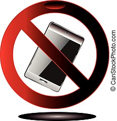 no, móvil, señal