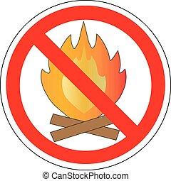 no make fire, sign, vector
