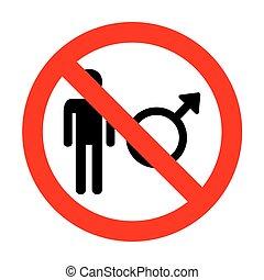 No Male sign illustration.