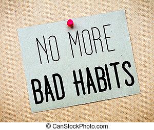no, malo, hábitos, mensaje, más