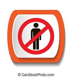 No man icon