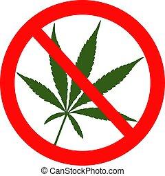No marijuana red warning restriction sign