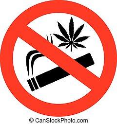 No marijuana smoking sign
