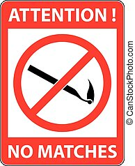 No match sign Vector illustration. Flat design.