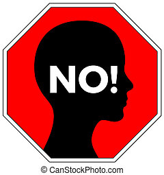 No means No - Concept sign for anti-rape campaign to rise...