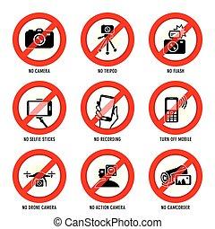 No media signs