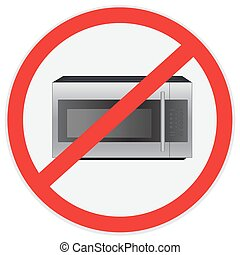 No microwave, sign