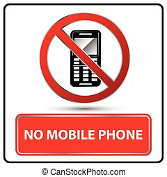 no mobile phone sign Illustration vector
