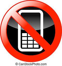 No Mobiles icon