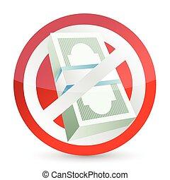 no money symbol illustration design